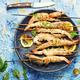 Langoustines or prawns on a skewer - PhotoDune Item for Sale