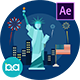 USA Independence Day Animation | After Effects - VideoHive Item for Sale