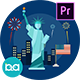 USA Independence Day Animation | Premiere Pro MOGRT - VideoHive Item for Sale