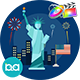USA Independence Day Animation | Apple Motion & FCPX - VideoHive Item for Sale