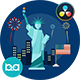 USA Independence Day Animation | DaVinci Resolve - VideoHive Item for Sale