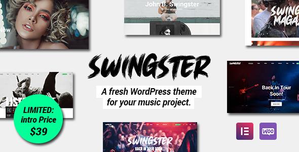 Swingster - Elementor Music WordPress Theme