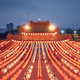 Traditional Chinese red lanterns in temple in Kuala Lumpur - PhotoDune Item for Sale