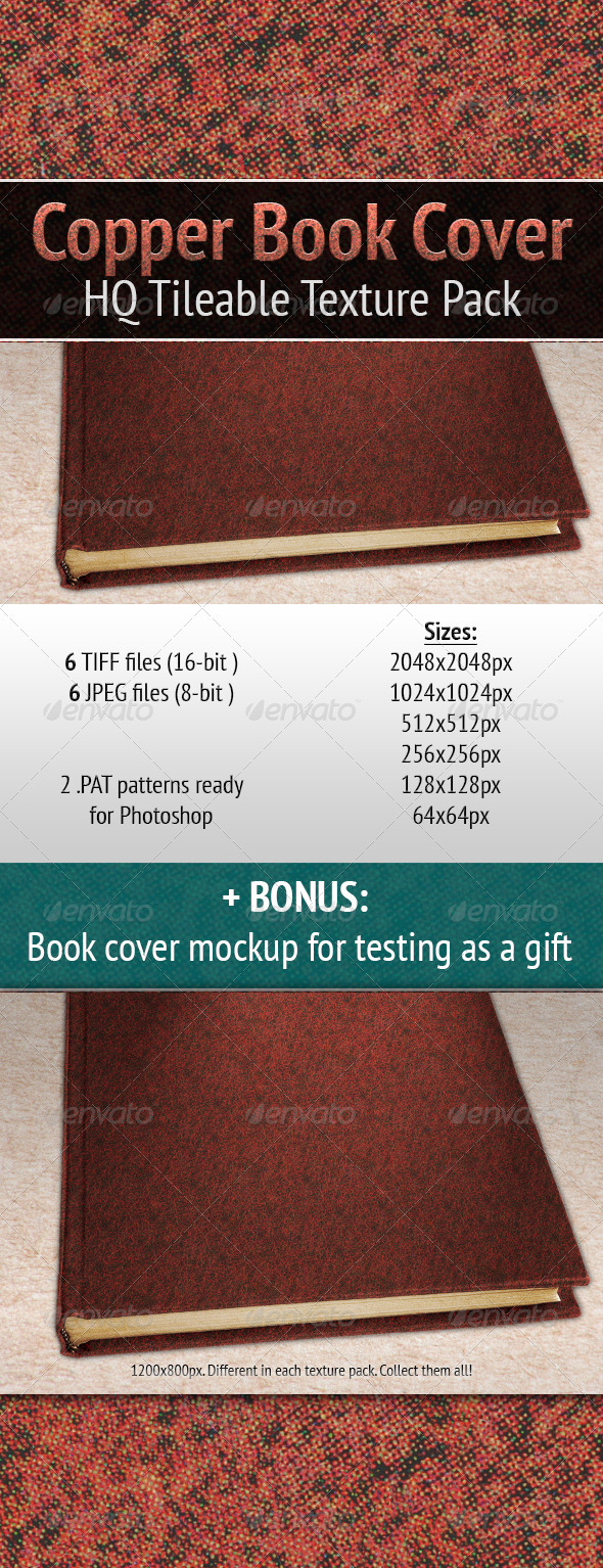 Copper Book Cover - Miscellaneous Textures