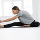 Healthy attractive young yoga woman stretching - PhotoDune Item for Sale