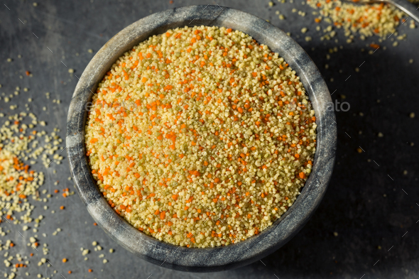 Raw Organic Moroccan Couscous - Stock Photo - Images
