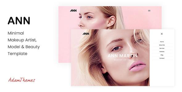 Exceptional ANN— Minimal Makeup Artist, Model & Beauty Template