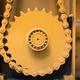 Closeup of orange gearwheel - PhotoDune Item for Sale