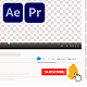 Notifications and Subscribe Premiere Pro - VideoHive Item for Sale