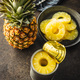 Canned sliced pineapple fruit in can. - PhotoDune Item for Sale