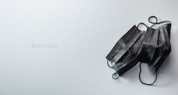 Surgical face mask. Coronavirus protection. Covid-19 protection mask. - Stock Photo - Images