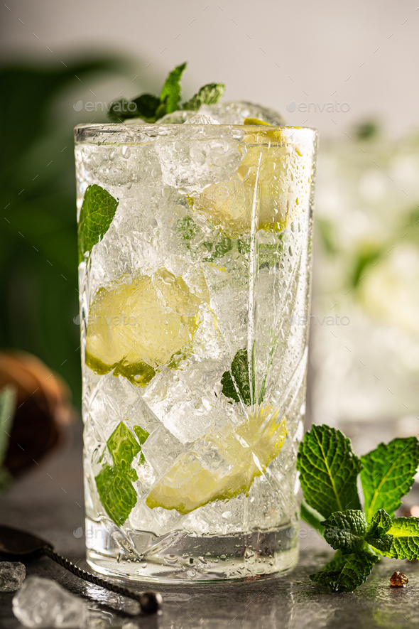 Refreshing summer homemade cocktail - Stock Photo - Images