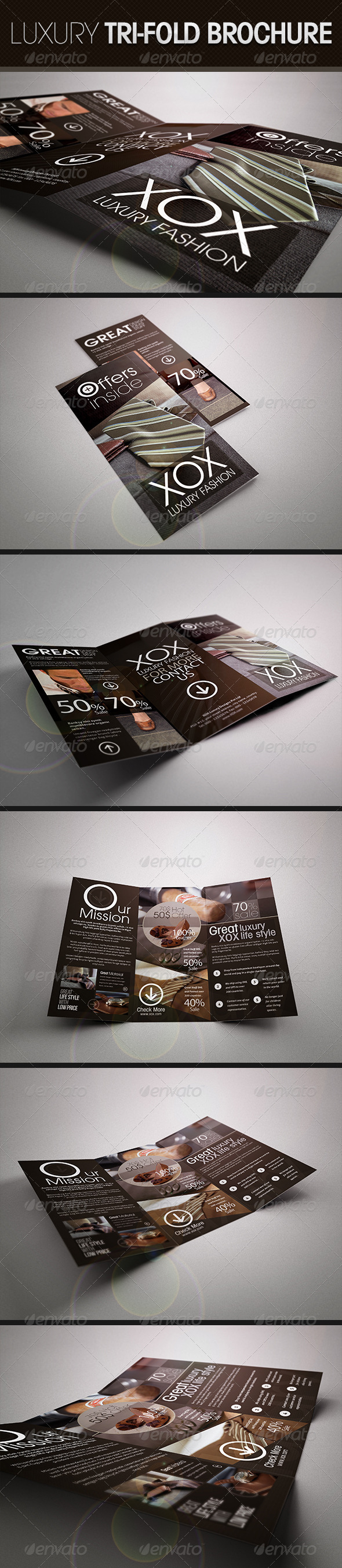 Luxury Trifold Brochure - Corporate Brochures