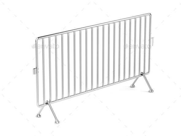 Mobile steel barrier - Stock Photo - Images