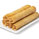 Plate with deep fried Vietnamese egg rolls on white background - PhotoDune Item for Sale