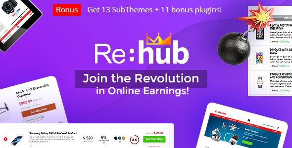 REHub - Price Comparison, Multi Vendor Marketplace for Wordpress, Affiliate and SEO Marketing Theme