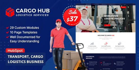 Cargo HUB - Transportation & Logistics HubSpot Theme