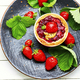 Summer biscuit or shortcake with strawberries - PhotoDune Item for Sale