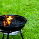 Fire Flames on Grill. Barbeque in Backyard Garden - PhotoDune Item for Sale