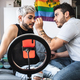Drag queen and gay man streaming online make up tutorial with mobile phone camera indoors at home - PhotoDune Item for Sale