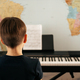 School boy playing synthesizer at home - PhotoDune Item for Sale
