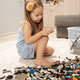 Cute girl playing lego at home - PhotoDune Item for Sale