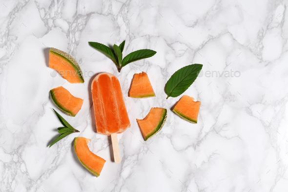 Melon popsicle - Stock Photo - Images