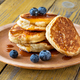 Stack of ricotta pancakes on the plate - PhotoDune Item for Sale