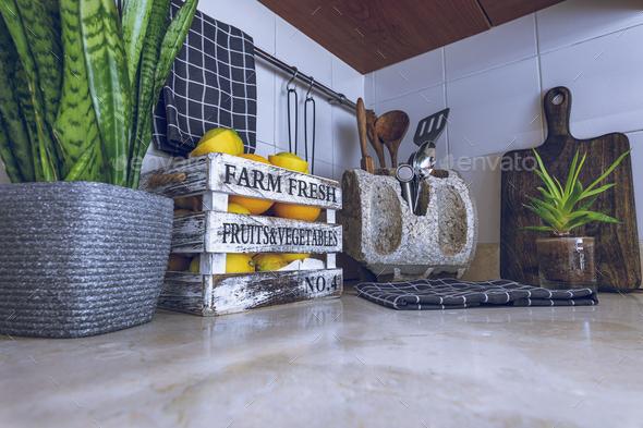 Stylish Kitchen Design - Stock Photo - Images