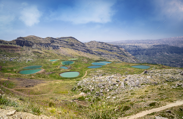Landscape with Lakes - Stock Photo - Images