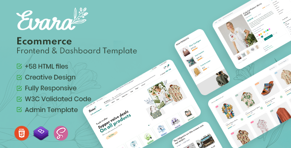 Beautiful Evara - Bootstrap 5 Ecommerce Frontend & Dashboard Template
