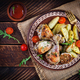 Baked chicken legs with slice potatoes and herbs - PhotoDune Item for Sale