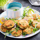 Homemade fish croquette with white fish, bulgur, spinach and breadcrumbs. Fritters from minced cod. - PhotoDune Item for Sale