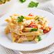 Fetapasta. Trending Feta bake pasta recipe made of cherry tomatoes, feta cheese, garlic and herbs. - PhotoDune Item for Sale