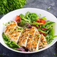 Grilled chicken fillet with salad. Keto, ketogenic, paleo diet. Healthy food.  Diet lunch concept. - PhotoDune Item for Sale