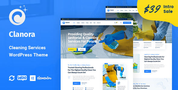 Clanora - Cleaning Services WordPress Theme