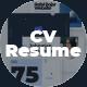 Resume Portfolio CV Presentation - VideoHive Item for Sale