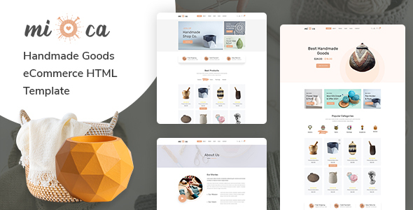 Mioca - Handmade Goods eCommerce HTML Template