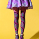 Skinny female legs with patterned purple collant - PhotoDune Item for Sale
