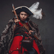 Angry child with jacket weared in pirate costume - PhotoDune Item for Sale