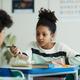 Girl Talking to Friend in School - PhotoDune Item for Sale