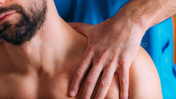 Neck Sports Massage Therapy - Stock Photo - Images