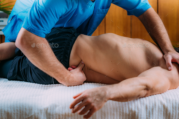 Lower Back Sports Massage Physical Therapy - Stock Photo - Images