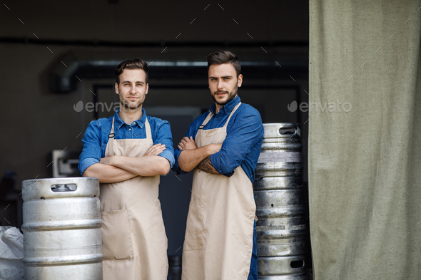 Family small business, production of craft alcohol in factory and work indoor - Stock Photo - Images