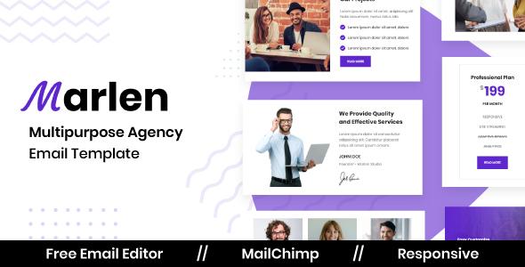 Marlen Agency - Multipurpose Responsive Email Template