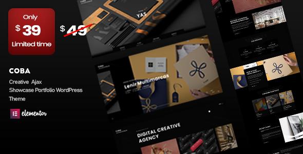 Coba - Ajax Portfolio WordPress Theme