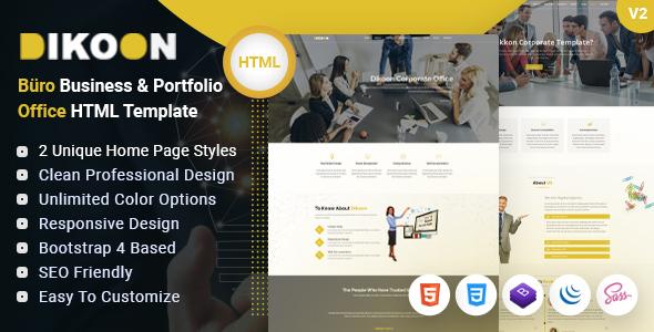 Great Dikoon – Corporate Business & Portfolio Büro Office HTML Template
