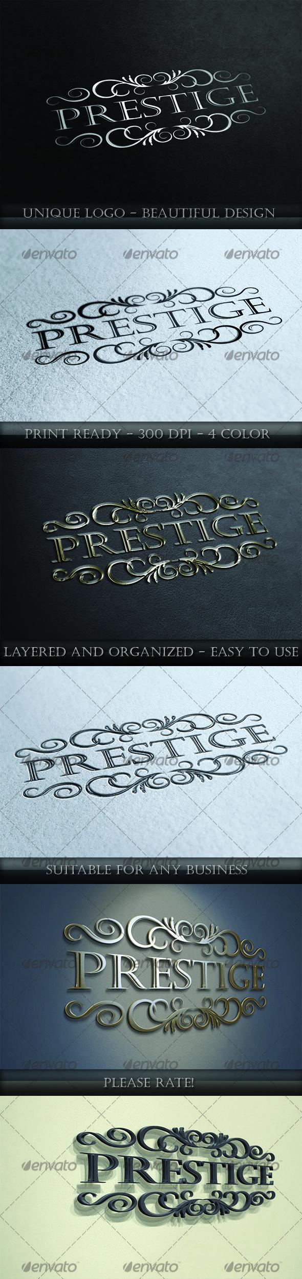 Prestige Logo - Letters Logo Templates