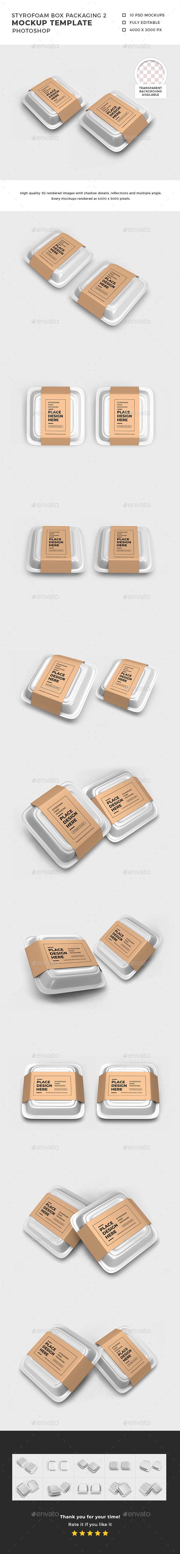 Styrofoam Box Packaging Mockup Template 2