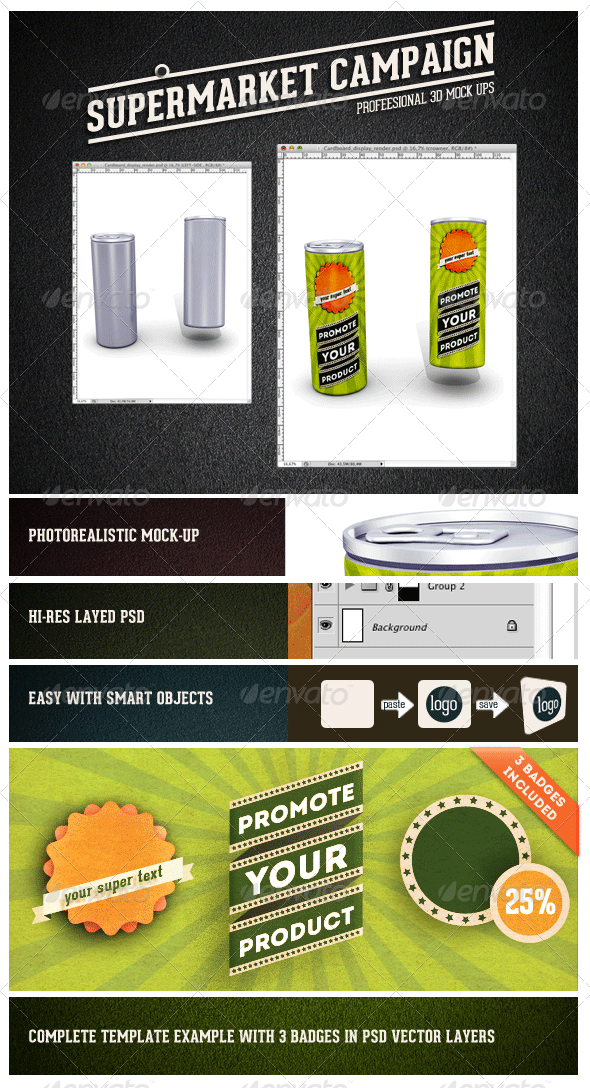 Energy-drink Can Mock-up - Food and Drink Packaging